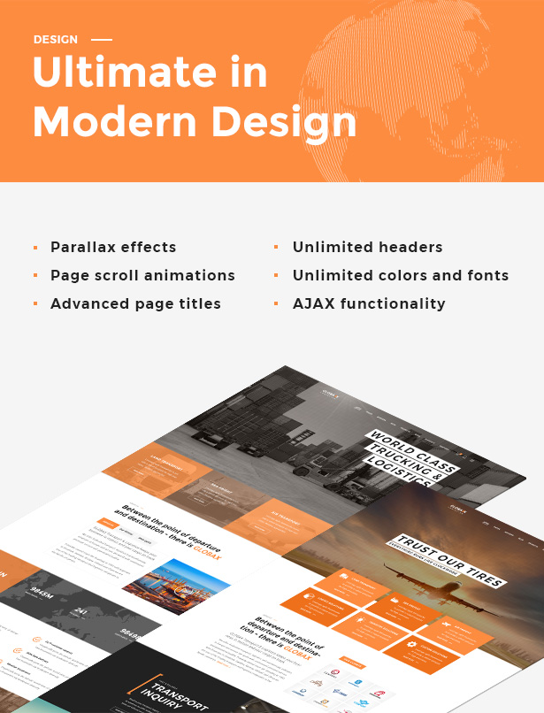 Globax - Logistics WordPress Theme + Woocommerce - 5