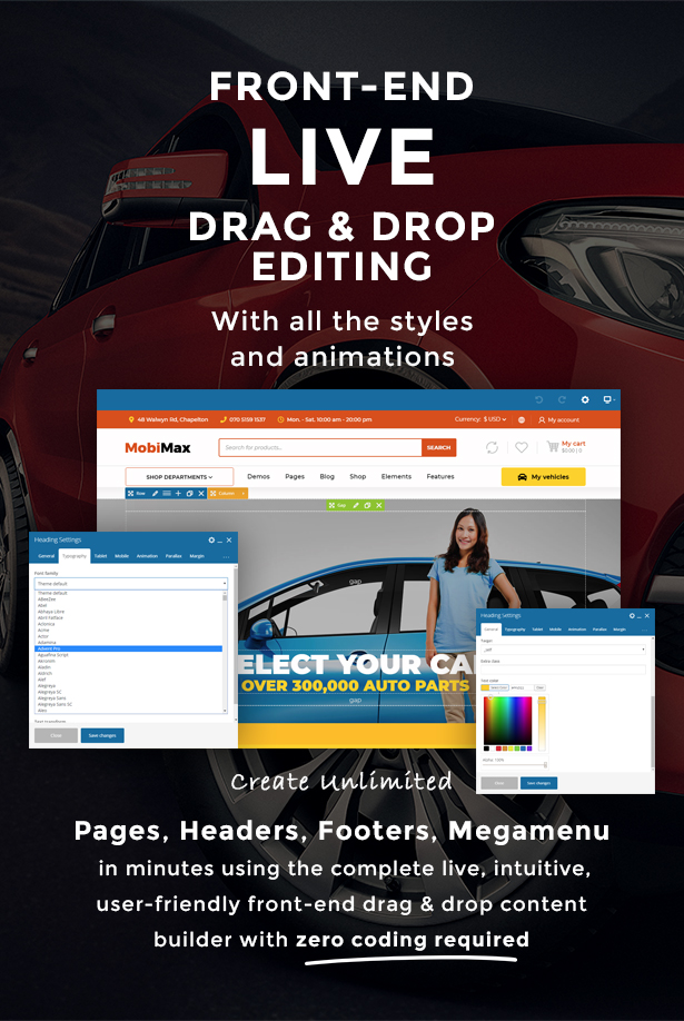 Mobimax - Auto Parts WordPress Theme + WooCommerce Shop - 4