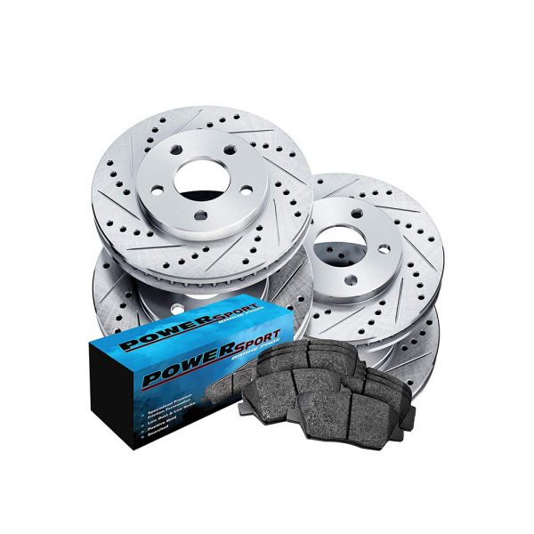 Full Kit Cross-Drilled Slotted Brake Rotors Disc and Ceramic Pad Camaro,Firebird