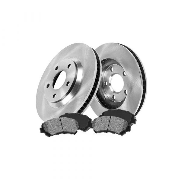 FRONT 277.88 mm Premium OE 5 Lug [2] Brake Disc Rotors + [4] Metallic Brake Pads