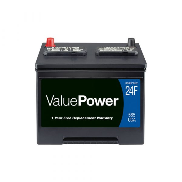 ValuePower Lead Acid Automotive Battery, Group 24F