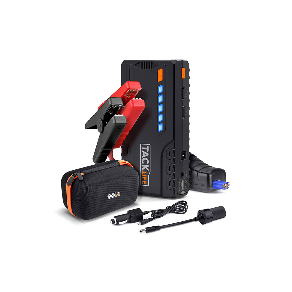 Car Jump Pack >> Tacklife T6 Car Jump Starter 600a Peak 16500mah 12v Auto Battery Jumper With Quick Charge Booster Up To 6 2l Gas 5 0l Diesel Portable Power