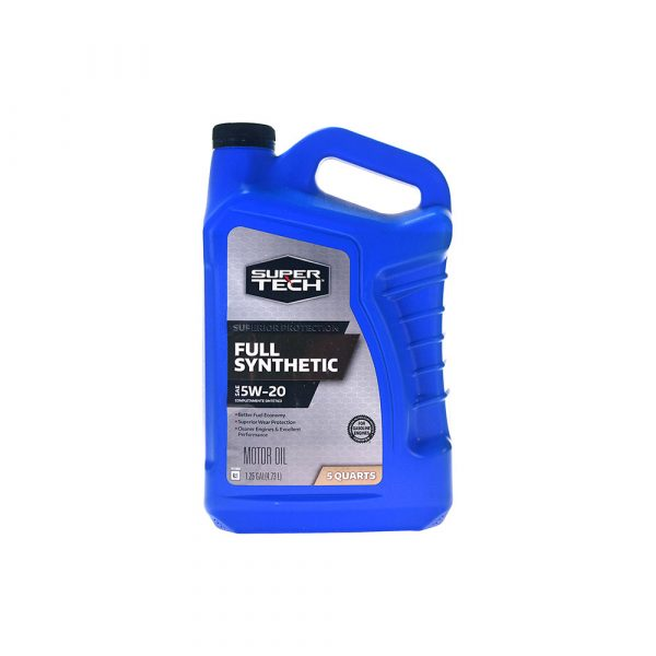 Super Tech Full Synthetic SAE 5W-20 Motor Oil, 5 Quarts