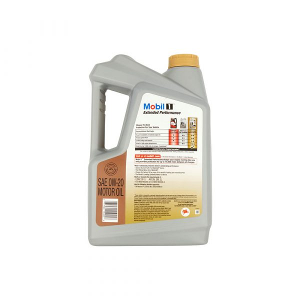Mobil 1 Extended Performance 0W-20 Full Synthetic Motor Oil, 5 qt
