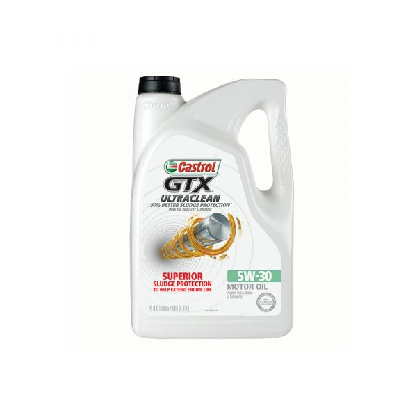 Castrol GTX ULTRACLEAN 5W-30 Motor Oil, 5 QT