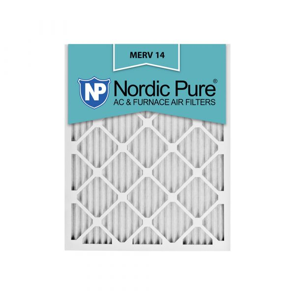 20x25x1 Pleated MERV 14 AC Furnace Air Filters Qty 6