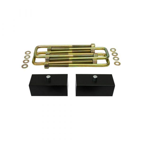 Supreme Suspensions – Chevy + GMC K1500 + Tahoe + Yukon + Suburban 3 Front Suspension Lift + 2 Rear Lift Kit (Black) PRO